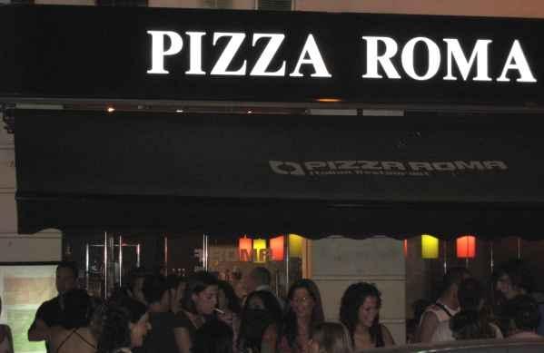Pizza Roma: toodo graande · Comer y Disfrutar